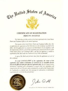 US Reg Certif